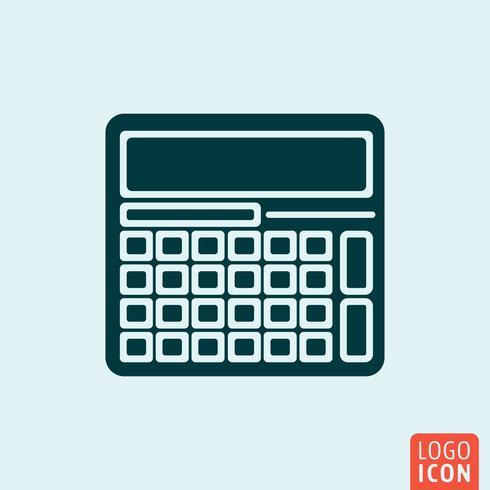 Minimaal ontwerp van rekenmachinepictogram vector