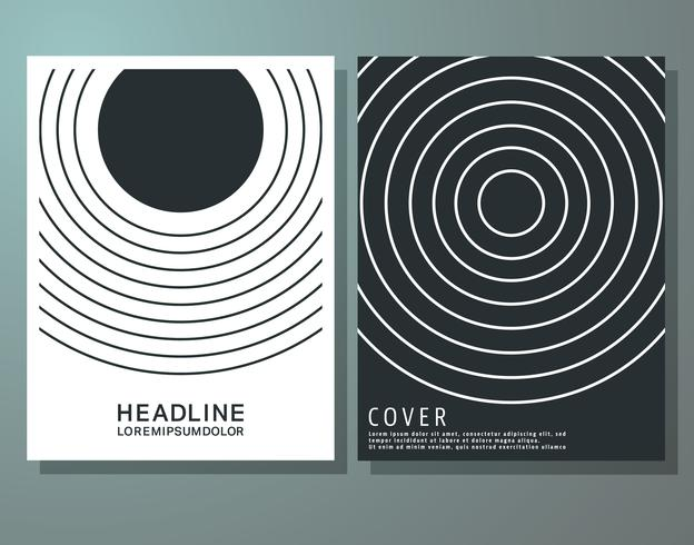 Plantilla de folletos de portada. vector
