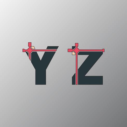 Onvolledig glitch-lettertype