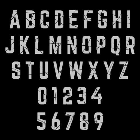 Font alfabeto rotto