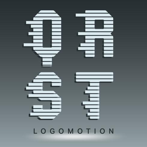 Logo lettertype sjabloon