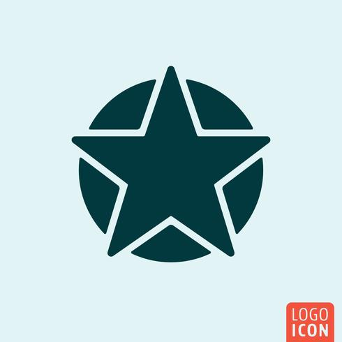 Estrella con el icono del círculo vector