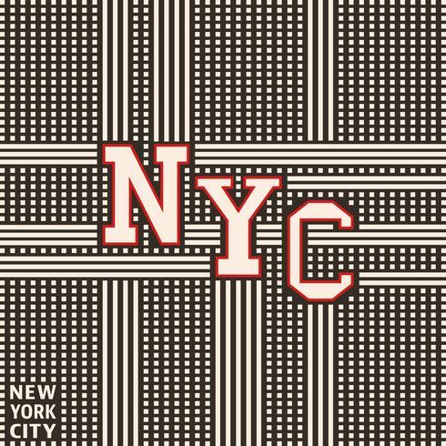 Affiche vintage de New York vecteur