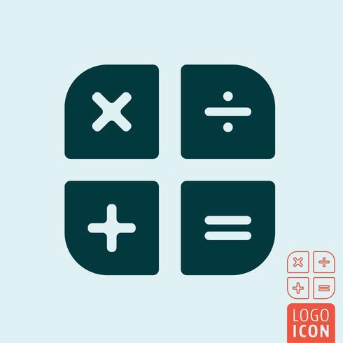 Ícone de calculadora isolado vetor