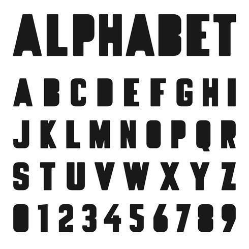 Modelo de fonte do alfabeto vetor