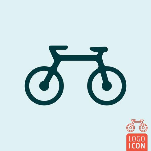 Bicycle icon isolated.