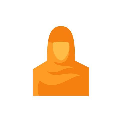 Icono de las mujeres musulmanas plana. Ramadan Kareem vector