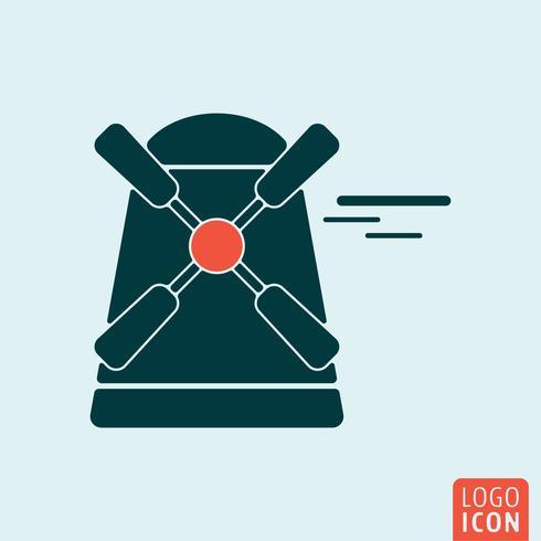 isolerad väderkvarn ikon