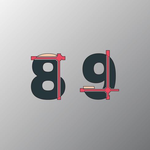 Incomplete glitch font vector