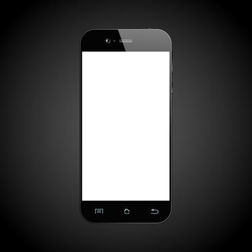 Smartphone negro aislado
