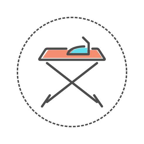 Iconos de lavandería en estilo de colores planos. Ilustración vectorial vector