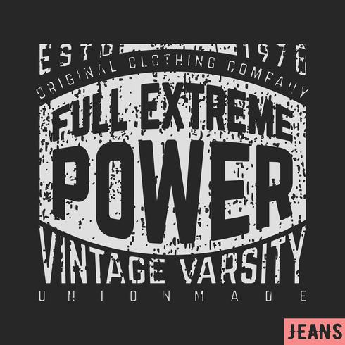 Full extreme power vintage vector