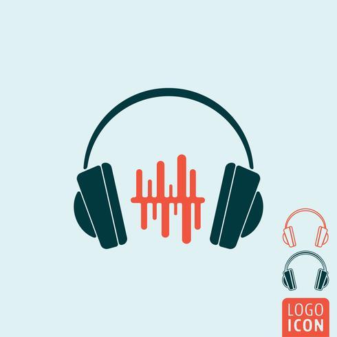 Hörlurar ikon isolerad
