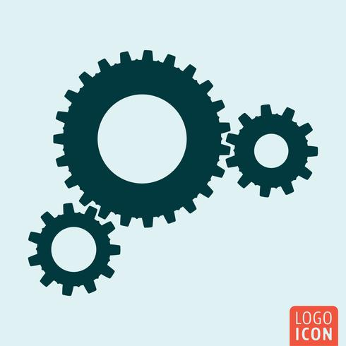 Gears icon isolated vector
