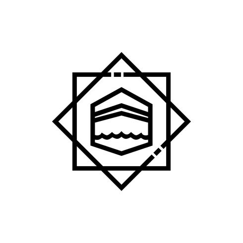 kaaba line icon design