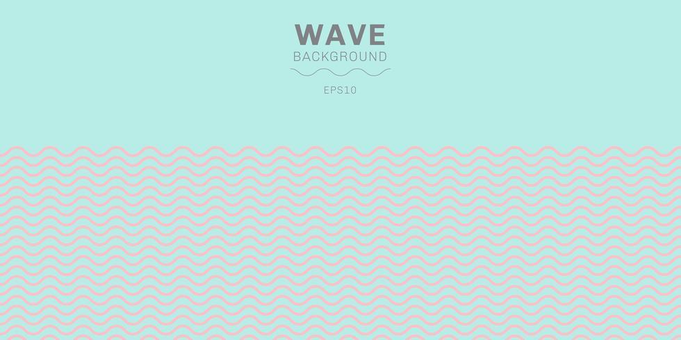 Líneas de ondas rosadas abstractas del color de pasteles modelo en fondo azul con el espacio de la copia.
