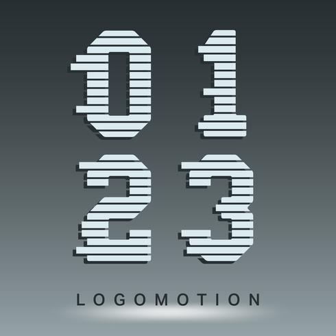 Plantilla de fuente de logotipo vector