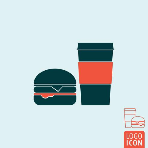 Icono de comida rápida aislado vector