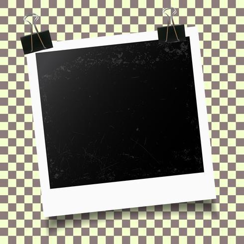 Plantilla de marco de foto vector