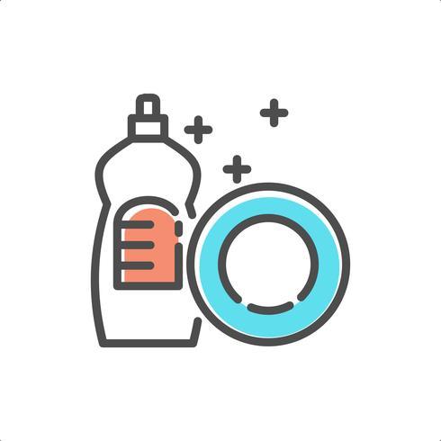 Geschirrspüler-Vektor-Symbol