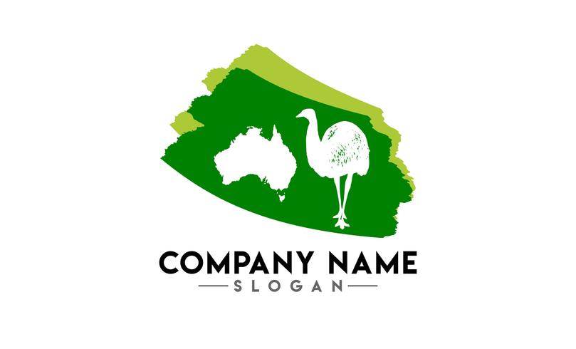 australian animal brush logo vector