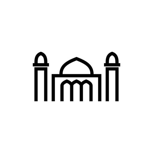 mosque outline icon. ramadan kareem