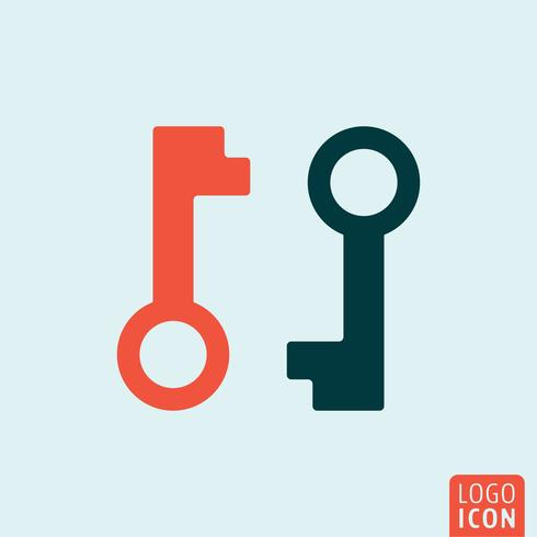 Key icon isolated