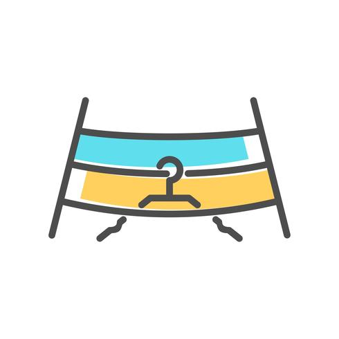 Laundry icons in flat colors style. Vector illustration
