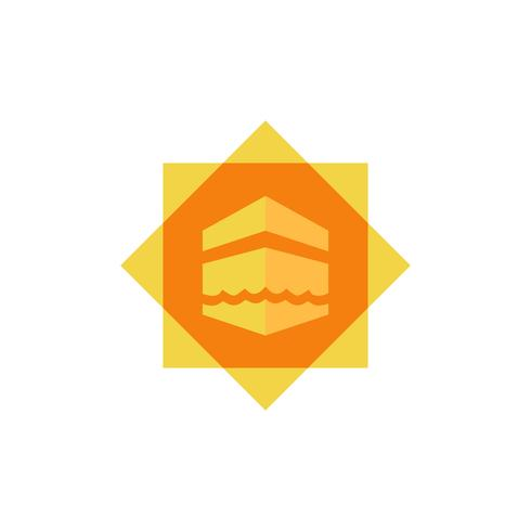 Kaaba flache Icon-Design