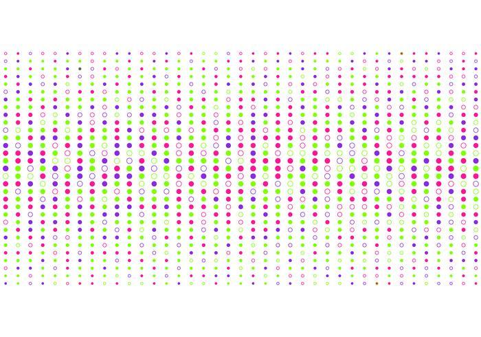 Abstrakt färgglada prickar mönster halvtonsstil på vit bakgrund.