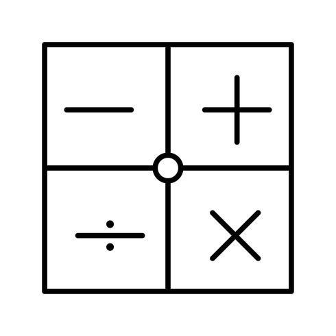 Symboles mathématiques Icône de belle ligne noire