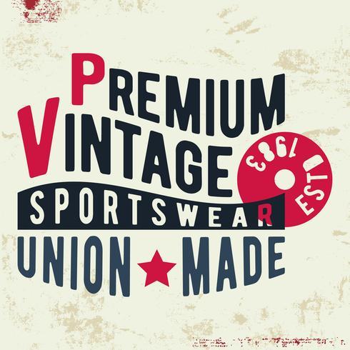 Premium vintage stamp vector