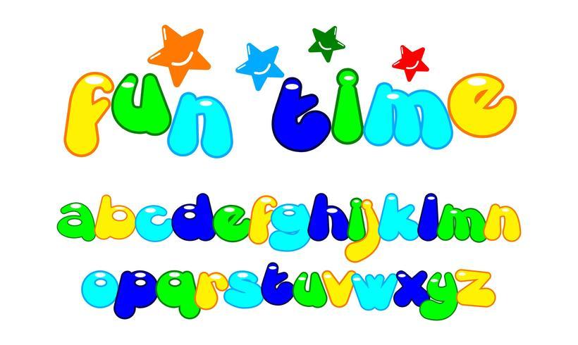 bubble custom font