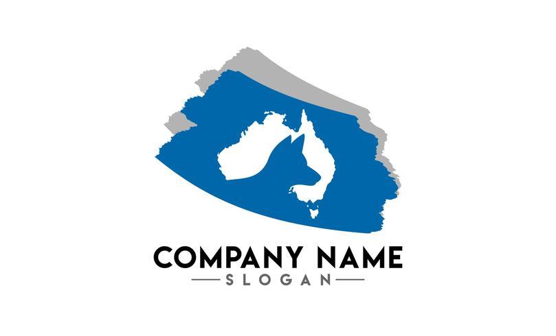 logotipo de escova animal australiano