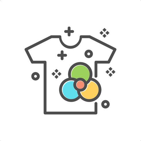 symbole de vecteur de vêtements propres icône