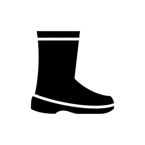 Labor safety shoes glyph icon vector