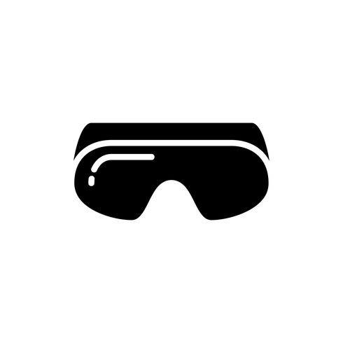 Safety Goggles glyph icon vector