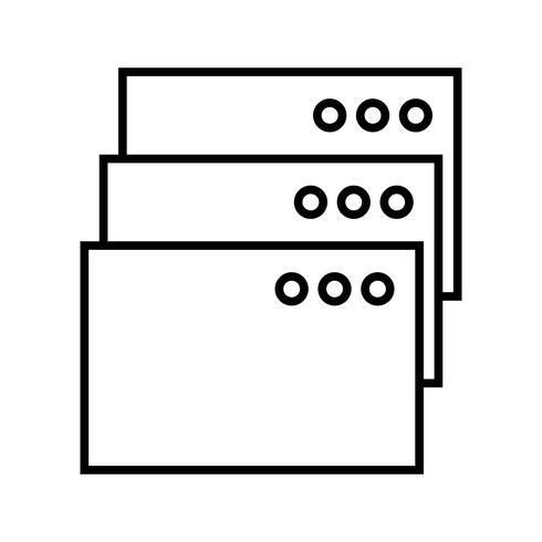 Tabs Line black icon vector