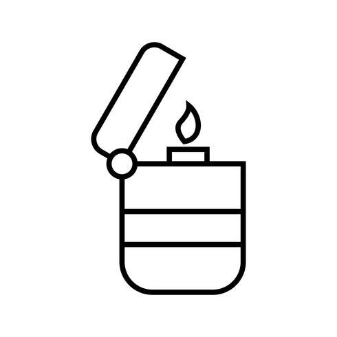 Icono negro de la línea más ligera vector