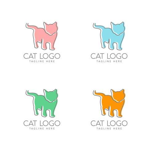création de logo de chat simple