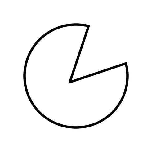 Gráfico circular hermoso icono de línea negra vector