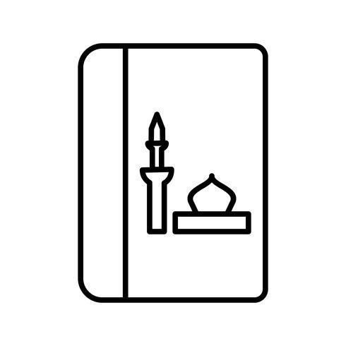Libro Religioso Hermosa Línea Icono Negro vector