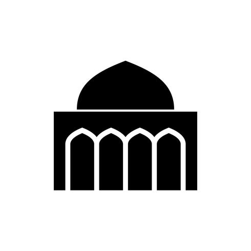 ícone de glifo de mesquita. ramadan kareem vetor