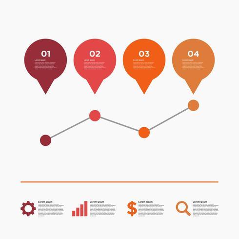 Presentation business illustration vector