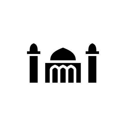 mosque glyph icon. ramadan kareem