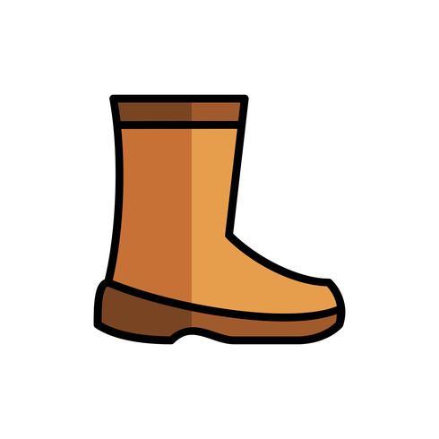 Chaussures de sécurité du travail remplissent icône contour