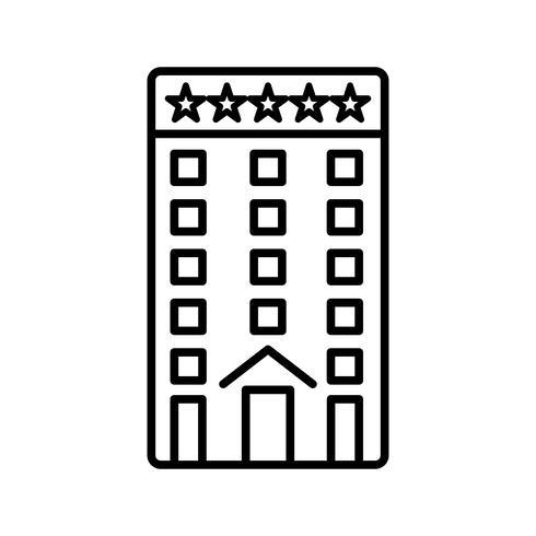 Icona nera della linea di costruzione di cinque stelle