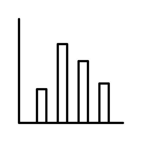 Gráfico del icono de la hermosa línea negra vector