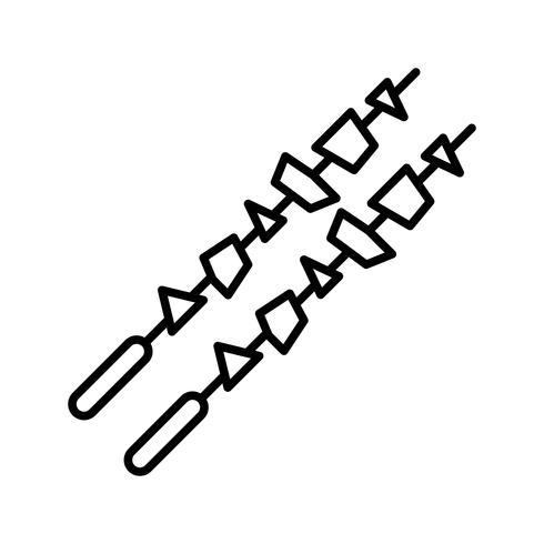Barbeque Line Black Icon vector
