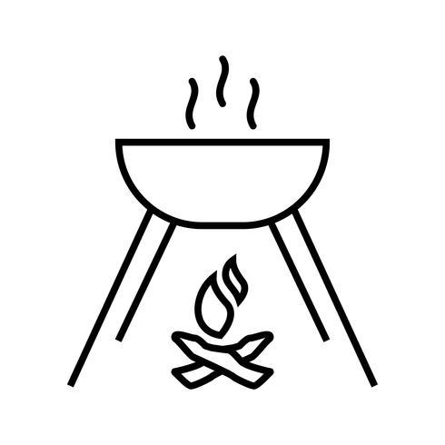 Cooking Food Line Black Icon vector